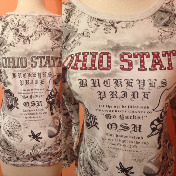 2b389fb6 Creative Apparel Tops - Ohio State t-shirt with bling faux rhinestones